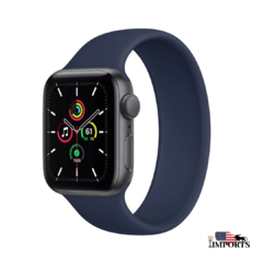 Apple Watch Series SE - Caixa Cinza Espacial - Solo Loop