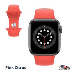 Apple Watch Series 6 - Caixa Cinza Espacial - Sport Band - loja online