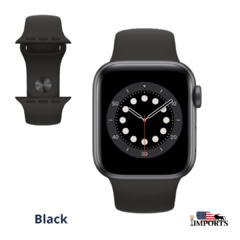 Imagem do Apple Watch Series 6 - Caixa Cinza Espacial - Sport Band