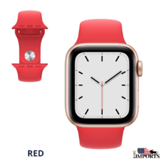 Apple Watch Series SE - Caixa Dourada - Sport Band