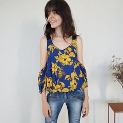 BLUSA BLUE FLOWER na internet