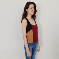 TOP LYOCELL TRICOLOR - loja online