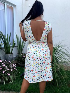 VESTIDO ACID ESTAMPADA - D1 Look