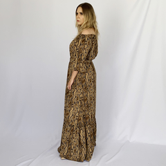 VESTIDO LONGO ANIMAL PRINT na internet