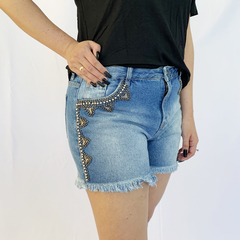 SHORTS JEANS BORDADO ROMANTIC