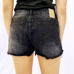 SHORTS JEANS BLACK BASIC na internet