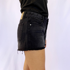 SHORTS JEANS BLACK BASIC - D1 Look