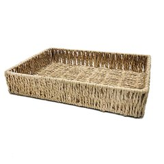 CESTA FIBRA NATURAL FRINGES 408717 - Ambiente House