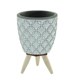 Cachepot Concreto Chinese C/Pe Cinza 408739