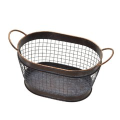 Cesta Decorativa De Metal 581571