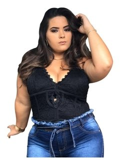 Body espartilho Plus Size Renda Sensual Oferta