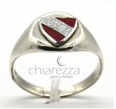 Anillo Sello Independiente En Plata 925 Y Esmalte en internet