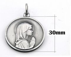Medalla Virgen Niña Aleacion Aluminio 30mm en internet