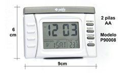 Reloj Despertador Digital Paddle Watch P90008 Luz Temperatura Calendario (121043) - comprar online