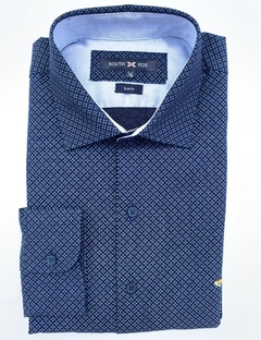 Camisa Dutti Con Codera Marino con Florcitas South Fox