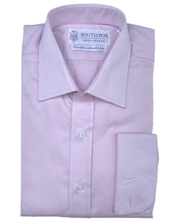 Camisa Vestir Puño Doble Francés Rosa South Fox