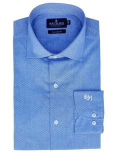 Camisa Formal Celeste Fantasía Ratier South Fox