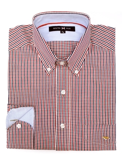 Camisa Cuadrito Azul/Rojo Classic Fit South Fox