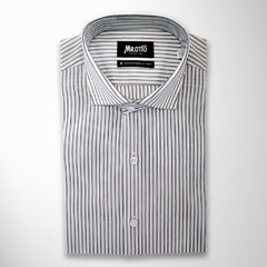 Camisa BRUNO, corte intermedio (Slim) raya doble