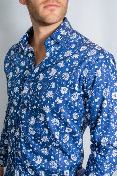 Camisa HANS Slim Fit Azul