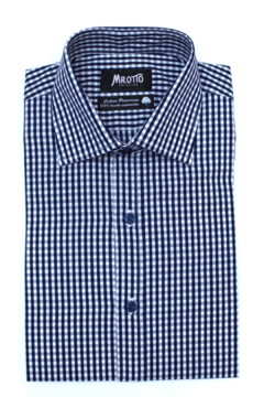 Camisa GIANLUIGI, corte intermedio (Slim) Azul Marino - Mr Otto
