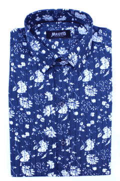 Camisa HANS Slim Fit Azul - Mr Otto