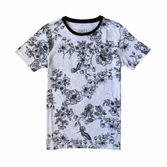 Camiseta Flower Botonê gola careca 1588