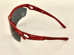 Lentes Color Rojo Medio Marco UV 400 protection Running Bike Trail Unisex Modelo Barcelona Antiempañante - tienda online