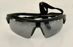 Lentes Negros Medio Marco UV 400 protection Running Bike Trail Unisex Modelo Dublin Antiempañante con sujetador regulable