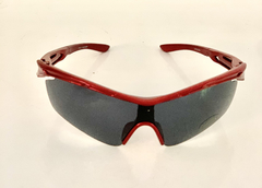 Lentes Color Rojo Medio Marco UV 400 protection Running Bike Trail Unisex Modelo Barcelona Antiempañante