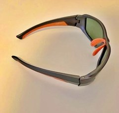 Lentes Color Gris Vivos Naranja POLARIZADOS UV400 Protection Running Trail Tria Bicicleta en internet