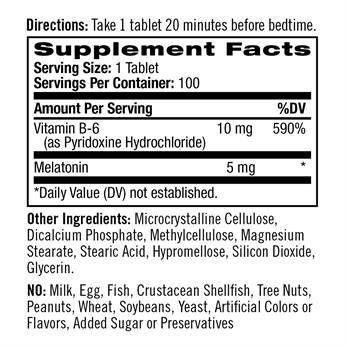 Melatonina 5 mg - Time Release (100 Tablets) - Natrol
