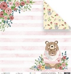 Papel - Regue o amor - Abraço de Urso - Juju Scrapbook
