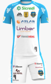 Kit Infantil do UNIFORME OFICIAL - Branco/Azul
