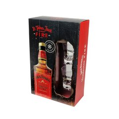Licor de Whiskey Jack Daniels Fire 1000ml Pack com 2 Copos Shot - comprar online