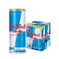 Red Bull Sugar Free 4pack 250ml