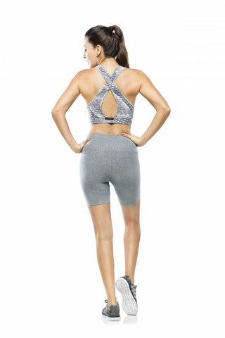 Top Fitness Estampado Silver Skin Safari