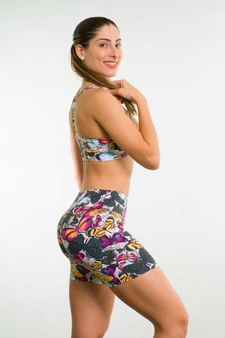 Bermuda Fitness Feminina Estampada BTA Up