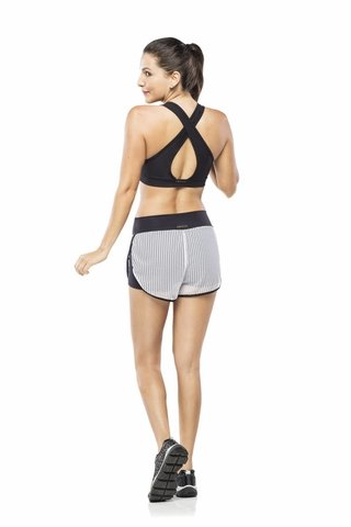 Shorts Fitness Feminino de Tela Branca Advance