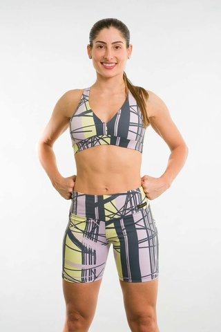 Bermuda Fitness Feminina Estampada AMR Up