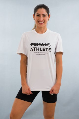 Camiseta Feminina Branca Stretch Tri Estampa Female