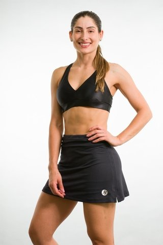 Short Saia Fitness Preto Runner 5