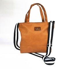 Cartera Urban Coffee - Cinta negra/blanco