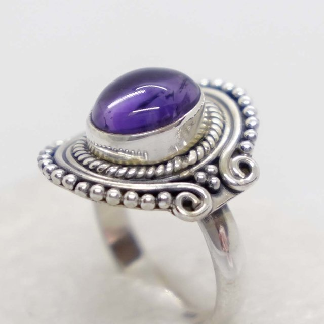 6 Böhm abalorios amatista plata 19x13mm perlas beads 9136