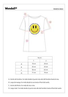 Remera oversized Smile - Wendall