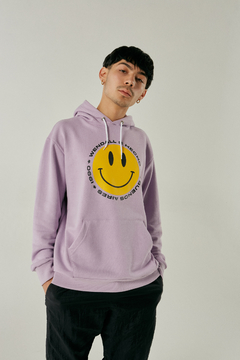Buzo Hoodie Smile Lila - comprar online