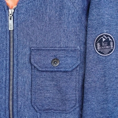 Travis Bomber Fleece II Azul Melange en internet