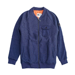 Travis Bomber Fleece II Azul Melange