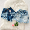 Kit Short Saia Jeans