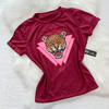 T-shirt Tiger Bordô